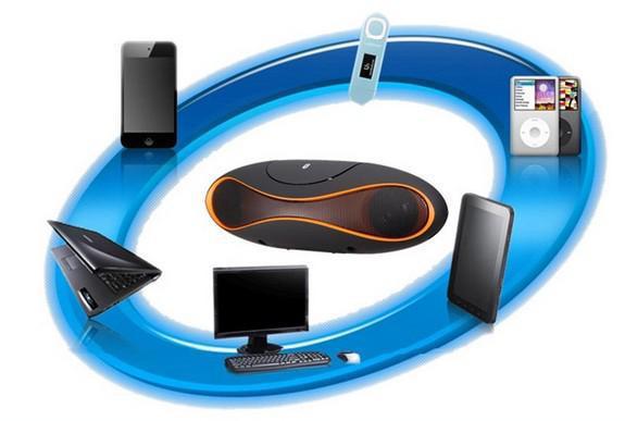 Commercio all'ingrosso - 2014 nuovo mini altoparlante rugby di calcio stile di design wireless Bluetooth altoparlante con USB TF iPhone5 4 S5 Nota 3 Andriod PHO