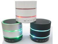 beatbox mp3 toptan satış-Toptan Satış - SF Ücretsiz DHL Yeni Stil 3 LED Işık Halkası S09 MIC ile Kablosuz Mini Hoparlör Hoparlörler Bluetooth HiFi beatbox