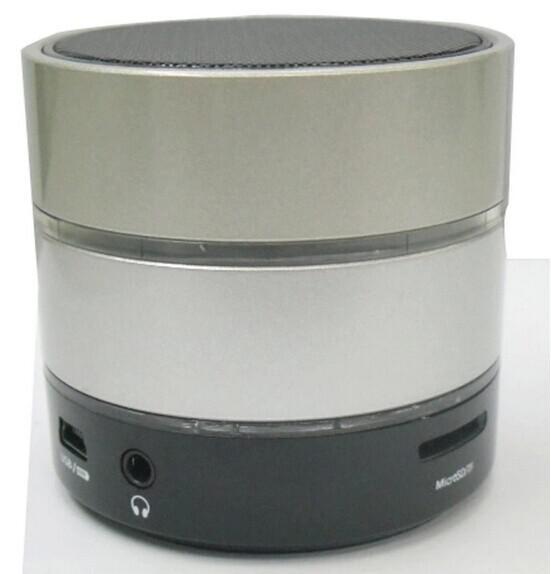 Vente en gros - SF Free DHL New Style 3 LED Light Ring S09 Mini haut-parleur sans fil haut-parleurs Bluetooth HiFi beatbox avec MIC