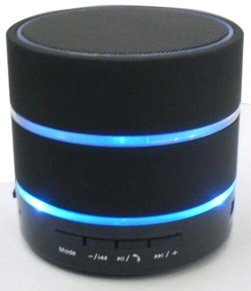 SF Free DHL Nouveau Style 3 LED Anneau Lumière S09 Sans Fil Mini Haut-Parleur Bluetooth HiFi Beatbox avec MIC