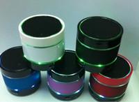 beatbox mp3 toptan satış-SF Ücretsiz DHL Yeni Stil 3 LED Işık Halkası S09 MIC ile Kablosuz Mini Hoparlör Hoparlörler Bluetooth HiFi beatbox