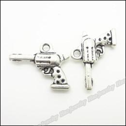 2019 pistolenarmbänder 50 Stück Vintage Charms Pistole Anhänger Antik Silber Fit Armbänder Halskette DIY Metallschmuckherstellung günstig pistolenarmbänder