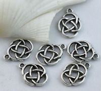 Wholesale celtic pendant silver knot - Hot ! 45pcs or 150pcs Antique silver Oval Celtic Knot Charms Pendants Jewelry DIY 17.5X13mm ( z565)