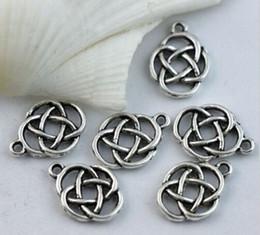 Wholesale Celtic Knot Pendant Wholesale - Hot ! 45pcs or 150pcs Antique silver Oval Celtic Knot Charms Pendants Jewelry DIY 17.5X13mm ( z565)