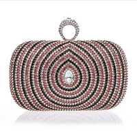 Clutch black diamond boutique - Top Quality Boutique Diamond Ring Rhinestone Evening Bag Clutch Handbag Multicolor Peacock Eye Fashion Bag Colors latest new top sale