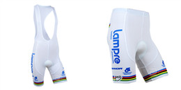 Wholesale Lampre Cycling - LAMPRE bib shorts 2014 Team Professional Cycling Shorts Riding Bicycle Ropa Ciclismo Bike 3D Padded Coolmax Gel Shorts Fitness