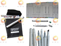 Wholesale Wholesale Bags Cheaper - Free Shipping 36-Color Finecolour Sketch Twin Marker set to USA with a gift bag, half cheaper than copic ciao marker pen, alcohol-based ink