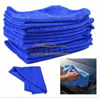 plüsch mikrofaser handtücher großhandel-10 teile / los auto mikrofaser handtücher sauberes tuch großhandel weichem plüsch 30 * 30 cm poliertuch für auto home office reinigung