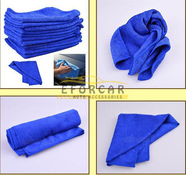 Car Microfiber Towels Clean Towel Wholesale Soft Plush 30*30cm Polish Cloth for Car Home Office Cleaning