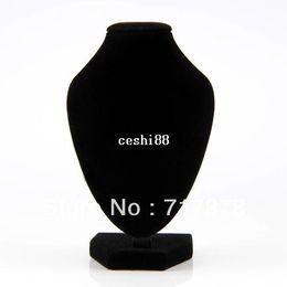 Vente en gros 1pc Collier pendentif en velours noir Chaîne Buste Porte-étalage Stand Présentoir Livraison gratuite