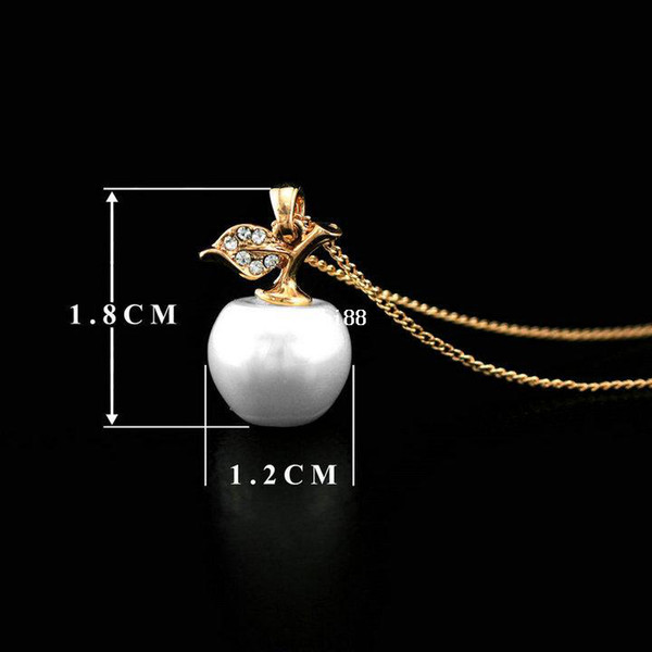 FREE SHIPPING 1piece CRKTLYN-006610350 18KGP High quality Real Austrian crystal apple necklace Retail & Wholesale jewelry