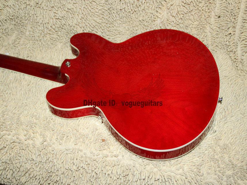 Оптовая гитара пользовательские красный Джаз гитара 335 электрогитара высокое качество новое прибытие гитара A123