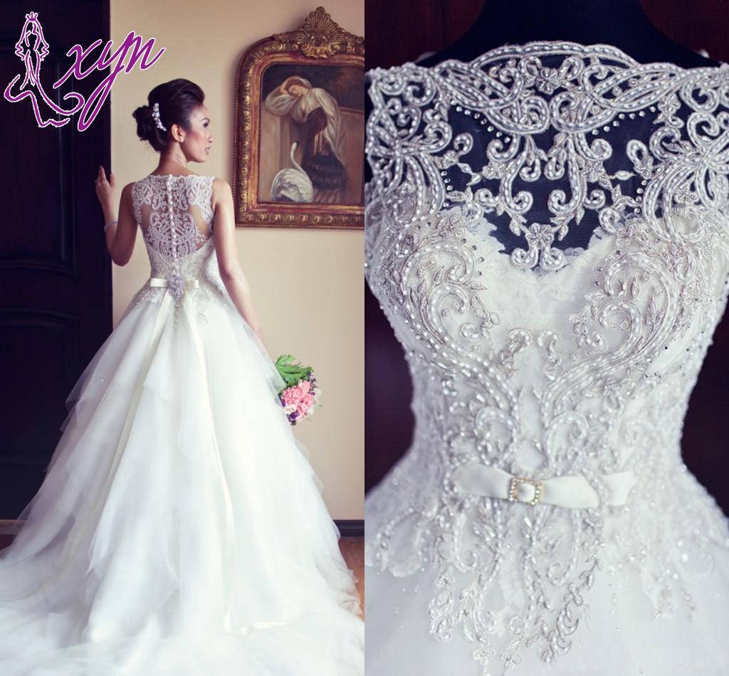 Discount Newest Elegant Sleeveless Crystal Wedding Dresses 2017 ...