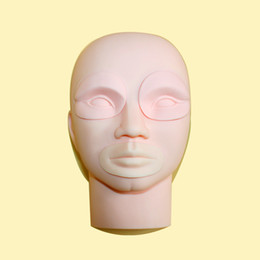 Chinese  Permanent Tattoo Makeup 3D Practice Skin Mannequin Head With Inserts Cosmetic Kits Supply manufacturers
