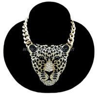 "New Iced Out JAGUAR Pendant w  10mm 18"" Link Chain Fash..."