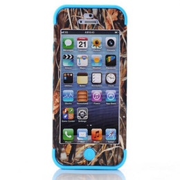 Wholesale S3 Phone Case Waterproof - Real Tree Camo Cases Serie For iphone 4 4S 5 5S S4 S3 Waterproof Cell Phone Case Hybrid Silicone Skin With Plastic Shell