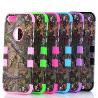 Wholesale Camo Iphone Hard Case Wholesale - Real tree camo case Serie Case 3 in 1 Hybrid Hard Plastic Soft silicone case Waterproof For iPhone 6 Samsung Galaxy s6