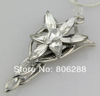 ingrosso arwen anello evenstar-LOTR Charm Arwen Evenstar Collana con ciondolo in cristallo argento all'ingrosso CALDO all'ingrosso della signora NUOVO