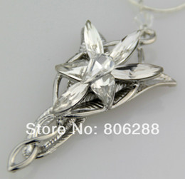Collana arwen online-HOT Wholesale Lady's Lord Of the Ring LOTR Charm Arwen Evenstar Silver Crystal Pendant Necklace NEW