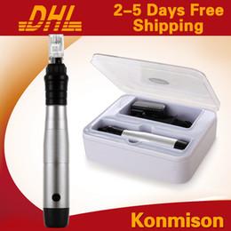 Wholesale Machine Stamp Pens - 2014 Newest Rechargeable Derma Pen With 100pcs Needles 12 Needles Dermapen Electric Derma Stamp Micro Needle Machine For Skin Care