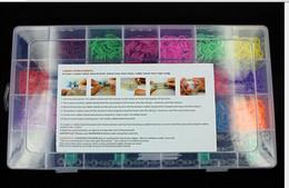 Wholesale Silicone Jelly Pcs - 4400 Pcs Rubber Bands DIY Bracelet Making Kit & Case For Rainbow Loom Kids Craft