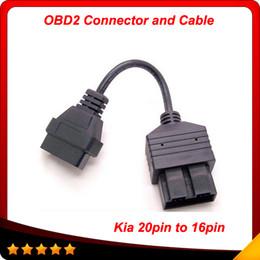 Obd1 Obd2 Connector Canada - 2014 for Kia 20 PIN to 16 PIN OBD1 to OBD2 Connect Cable for Kia 20PIN Car Diagnostic Tool Cable Kia 20 PIN Diagnostic Connerctor