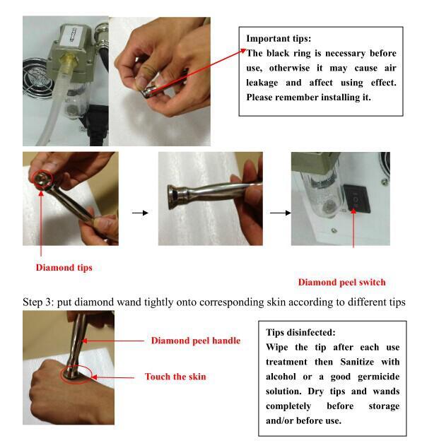 Spa Salon 3in1 Taşınabilir Elmas Dermabrazyon Su Oksijen Cilt Peeling Hydra Yüz Temizleme Makinesi Cilt Bakımı