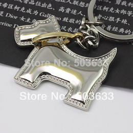 gun animals Canada - 10pcs Lot Creative Funny Smart Collie Dog Keychain Key Chain Ring Keyring Key Fob Funny Gift 85724