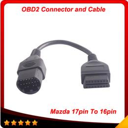 Mazda stifte online-Für MAZDA 17 Pin 17Pin-Stecker zu OBD OBD2 OBDII DLC 16 Pin 16Pin weiblicher Auto-Diagnose-Tooladapter 2014 heißer Verkauf