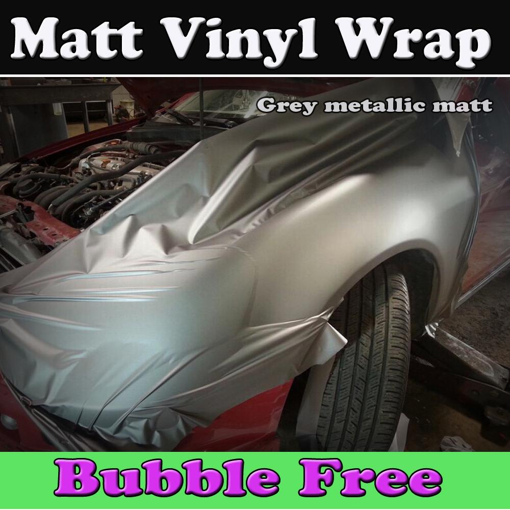 1* Brushed Aluminum Vinyl Film Metallic Wrap Sticker Bubble Free Air Release Top