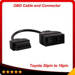 para Toyota 22 Pin A 16 Pin Hembra OBD 2 Cable Conector Adaptador Cable Cable Herramienta de Diagnóstico Envío Gratis desde fabricantes
