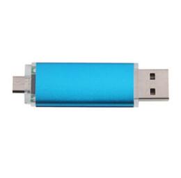 Wholesale Smart Phone Usb Disk - 2015 Smart Cell phone pendrives 32GB 64GB 128GB USB 2.0 Flash Drive drive U disk OTG external storage usb memory stick