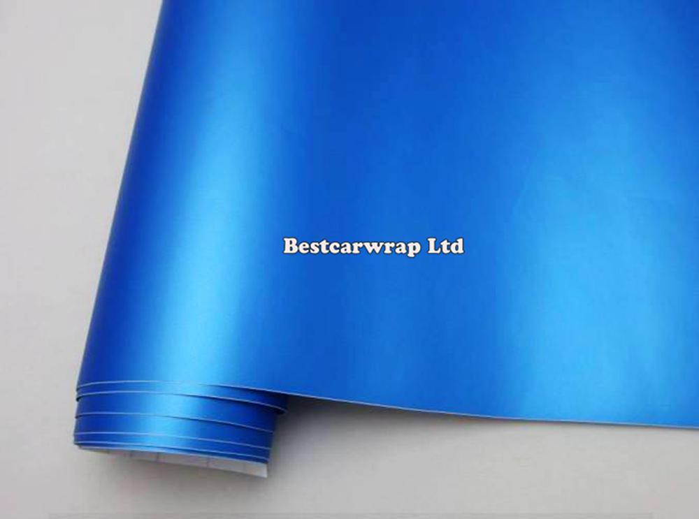 Pearl Blue Matt Vinyl Car Wrap Film With Air Bubble Free Vehicle Wrap Vinyl Sticker Pearl Blue Matte Car Wrap Sticker 1.52x30M