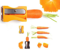 Wholesale Cucumber Fruit - Carrot Cucumber Sharpener Peeler Kitchen Tool Vegetable Fruit Curl Slicer