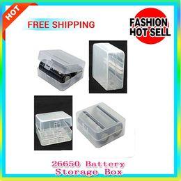 Wholesale E Cigarette Hard Box - Hot 26650 Li-ion battery Storage Case Container Hard Plastic Case Holder Storage Box for E Cigarette 26650 Batteries holds 2 batteries