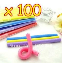 hair rods Promo Codes - Wholesale-MN-New Cute And Beauty Magic Hair Curler Roller Flexi Rod Wholesale Lots OF 100 + Free Shipping