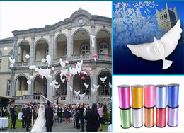 Wholesale Dove Balloons - 8%off!IN STOCK!hot sale!104*54cm!Wedding peace dove hydrogen balloon! Biodegradable Balloon!Free gift(ribbon 500CM)DROP SHIPPING50pcs lot.GX