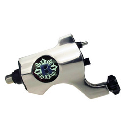 Wholesale Rotary Tattoo Machine Rca - Bishop Rotary Tattoo Machine Gun RCA Connection Silver Color For Tattoo Needle Ink Cups Tips Kits 8 colors can choose
