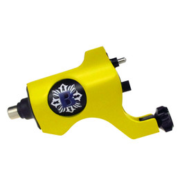 Needle Rotary UK - Yellow Color Bishop Rotary Tattoo Machine Gun RCA Connection For Tattoo Needle Ink Cups Tips Kits 8 colors can choose