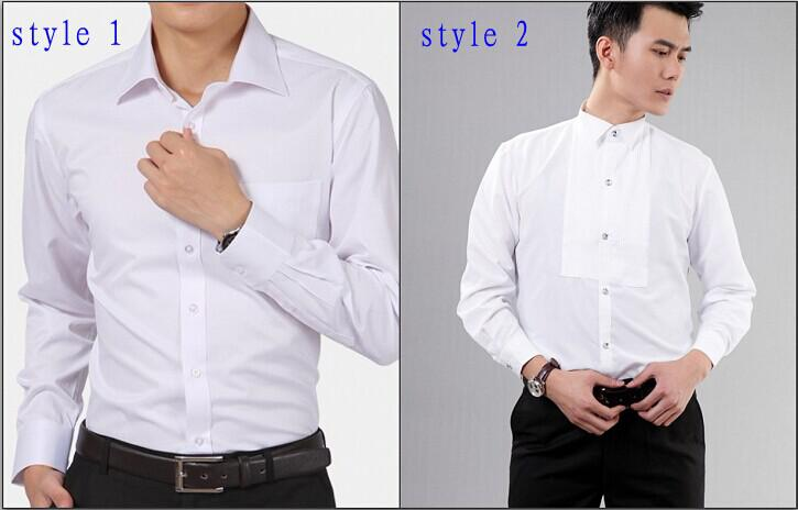 New Style Cotton White Men Wedding/Prom/Dinner Groom Shirts Wear Bridegroom Man Shirt ( 37--46 ) D52