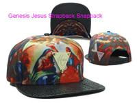 Wholesale Brim Snapbacks - New Hater Gold Genesis Jesus Strapback Snapback Hat Snakeskin Brim Caps,Snakeskin Strapback CAPS,201 New Style Caps Hats