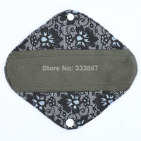 black sanitary pads - 1 Panty Liner quot Reusable Washable Charcoal Bamboo Cloth Pad Menstrual Sanitary Maternity Mama Pads Black flower lace