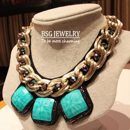 Wholesale Chunky Costume Jewelry - free shipping 2013 new fashion beautiful unique statement necklace jewelry chunky big chains necklaces for dress costume