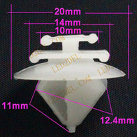 Wholesale Peugeot Auto Parts - 1629 car door clips for Peugeot 206 207 408 forCitroen C2 Elysee clamp anti-rub snap door rub strips shed buckle auto parts White trim strip
