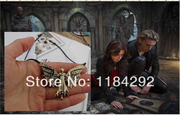 Freeshipping 20PC a lot The Mortal Instruments City of Bones The Infernal Devices Tessa's Clockwork Angel Pendant necklace YJH02