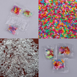 Wholesale Rainbow C Clips - Rainbow Rubber Band Loom Style Craft Buckle Clip Transparent C S Buckle Clips 10 Lots 240Pcs GNH