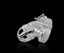 Wholesale Clear Male Chastity Device - LATEST DESIGN BONDAGE CLEAR MALE CHASTITY DEVICE WITH 6mm STAINLESS STEELTUBE FETISH SEX TOY UCB-8000+ A125-1