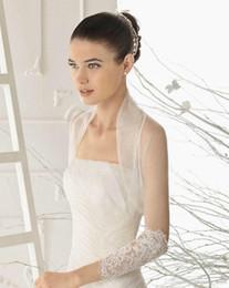 Wholesale Bridal Capelet - Hot Sell Wedding Jacket Wraps 3 4 Long Sleeve Bridal Jacket Bolera Capelet Lace Bridal Accessories