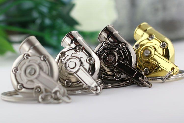 Turbo Keychain! Kreative Multicolor Hot Sleeve Bearing Spinning Turbine Turbolader Schlüsselanhänger Ring Schlüsselanhänger Schlüsselanhänger Schlüsselhalter