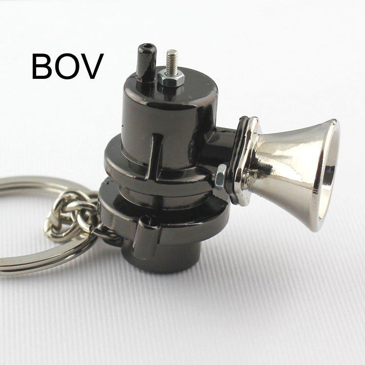 10pcs/Lot BOV Keychain Creative Hot Sale Blow Off Valve Auto Parts Accessories Key Chain Ring Keyfob Key Holder Keyring 86043